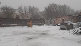 Балхаш накрыло снегом