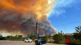 Пожар в Анталье
