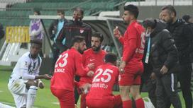 Перерыв во время матча 1-й лиги чемпионата Турции