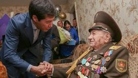 Аким ЗКО поздравил ветеранов ВОВ