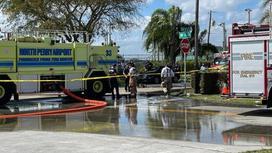 Пожарные на месте происшествия во Флориде