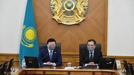 Заседание оперативного штаба с Бакытжаном Сагинтаевым и Алексеем Цоем