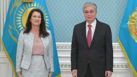 Касым-Жомарт Токаев и Анн Линде