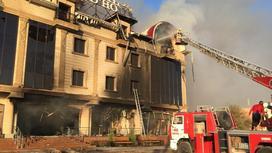 тушение пожара в Туркестане