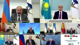 Главы государств на онлайн-заседании Высшего Евразийского экономического совета