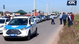 Полицейские машины в Шымкенте