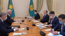 Касым-Жомарт Токаев на встрече с Михаилом Мясниковичем