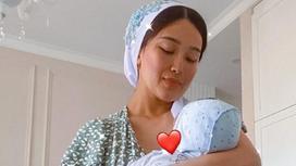 Махаббат Туктибаева с сыном