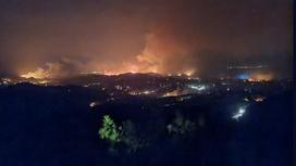Пожар на острове Родос
