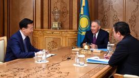 Нурсултан Назарбаев и Чжан Сяо
