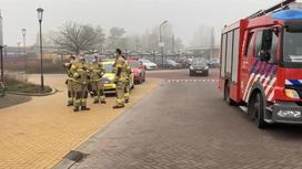 Пожарные на месте взрыва в Нидерландах