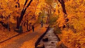 Осенний пейзаж в Алматы