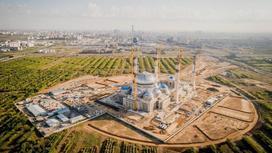 Строящаяся Главная мечеть в Нур-Султане