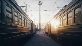 Поезда на станции