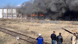 Пожар в Павлодарской области