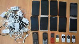 Изъятые у заключенных телефоны
