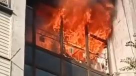 Пожар в Алмалинском районе