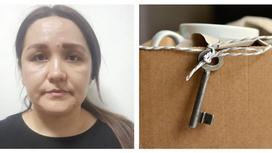 Задержанная мошенница и ключи от квартиры
