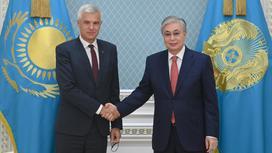 Касым-Жомарт Токаев и Иван Корчок