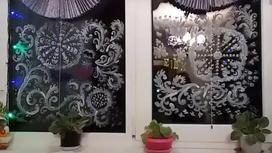 Новогодний рисунок «Морозный узор» на окне