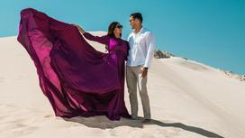 Тауекел Мусилим с женой. Фото