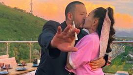 Айсауле Бакытбек с мужем