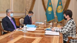 Касым-Жомарт Токаев на встрече с Натальей Годуновой