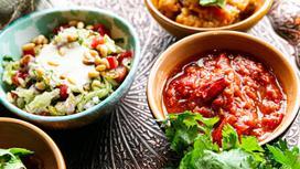 Блюда, зелень, еда