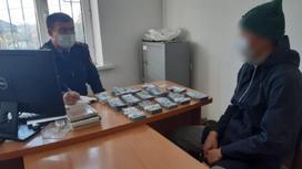 Подозреваемый у следователя в Туркестанской области