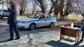 Блокпост в Алматинской области