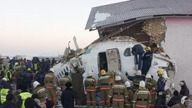 Самолет разбился под Алматы