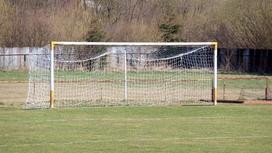 Футбольные ворота на поле