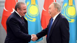 Нурсултан Назарбаев и Мустафа Шентоп