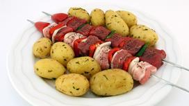 шашлык с картошкой