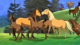 Кадр из мультфильма «Спирит: Душа прерий»