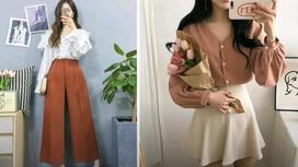 девушка одета в корейском стиле