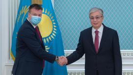 Касым-Жомарт Токаев и Вилле Скиннари