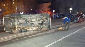 Автомобиль попал в аварию