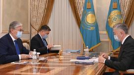 Касым-Жомарт Токаев и Серик Жумангарин