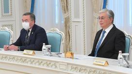 Мухтар Тлеуберди и Касым-Жомарт Токаев