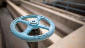 Вентиль канализации крупным планом
