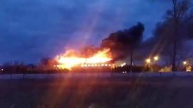 Больница горит в Костанайской области
