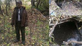 Пропавший мужчина жил в лесу в СКО