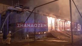 Пожар на КазГПЗ в Жанаозене
