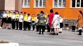 Дети в школе в Петропавловске