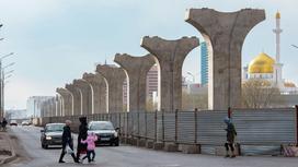 недостроенные конструкции для проекта Астана LRT