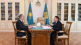 Касым-Жомарт Токаев и Ермек Маржикпаев