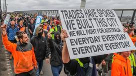 Протесты в Мельбурне