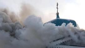 Алматы облысында шіркеу өртеніп кетті (фото)