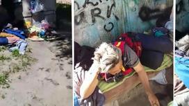 Женщина два месяца живет на улице в Алматинской области (видео)